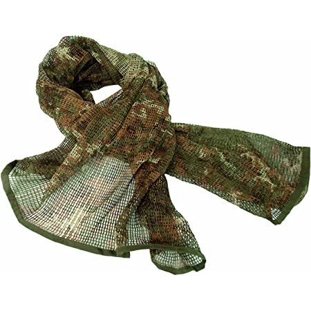 Military Scrim Net Scarf Tactical Face Veil Netting Italian Army Sorgo Vegetato Woodland Camo