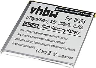 vhbw Litio polímero batería 3100mAh (3.85V) para