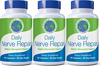 Daily Nerve Repair Neuropathy Pain Relief for Feet & Hands-Sciatic Nerve Pain Relief All-Natural Dietary Supplement with Alpha Lipoic Acid-Nerve Renew Neuropathy Support Formula 90 Day Supply. (3)