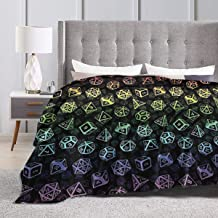Baulerd D20 Dice Set Pattern (Rainbow) Ultra-Soft Micro Fleece Blanket Couch 60