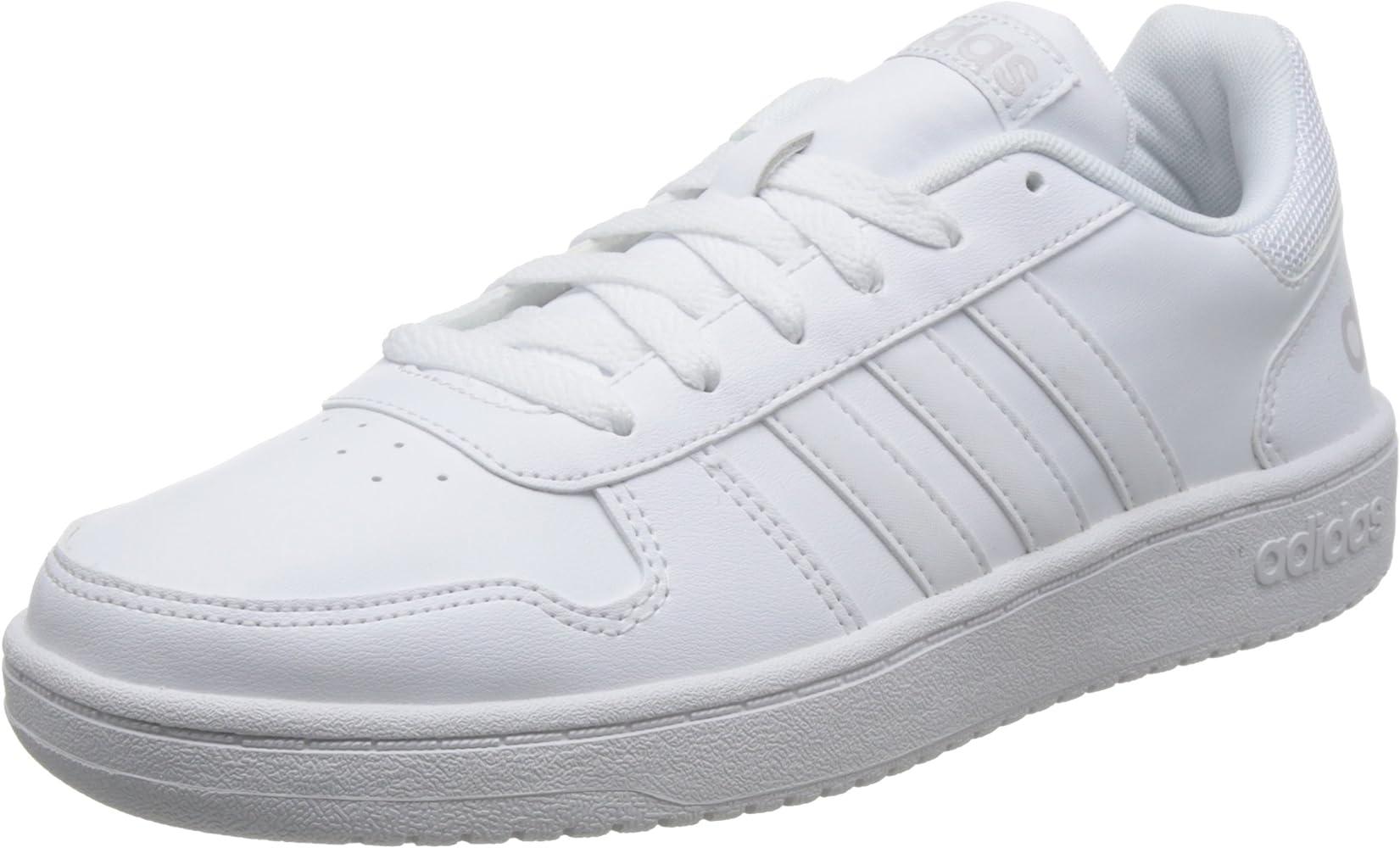 adidas Men's Hoops 2.0 Basketball Shoes, White