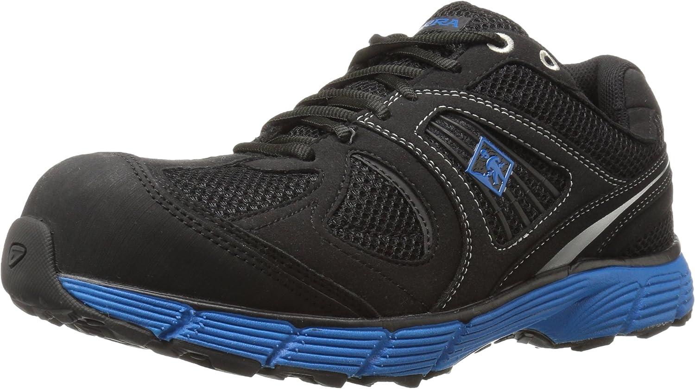 Terra Men's Pacer 2.0 Composite Toe Work Shoe, Black/Blue, 7