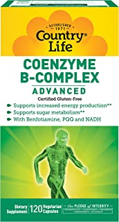 Country Life Coenzyme B Complex Advanced Capsules, 120 Count