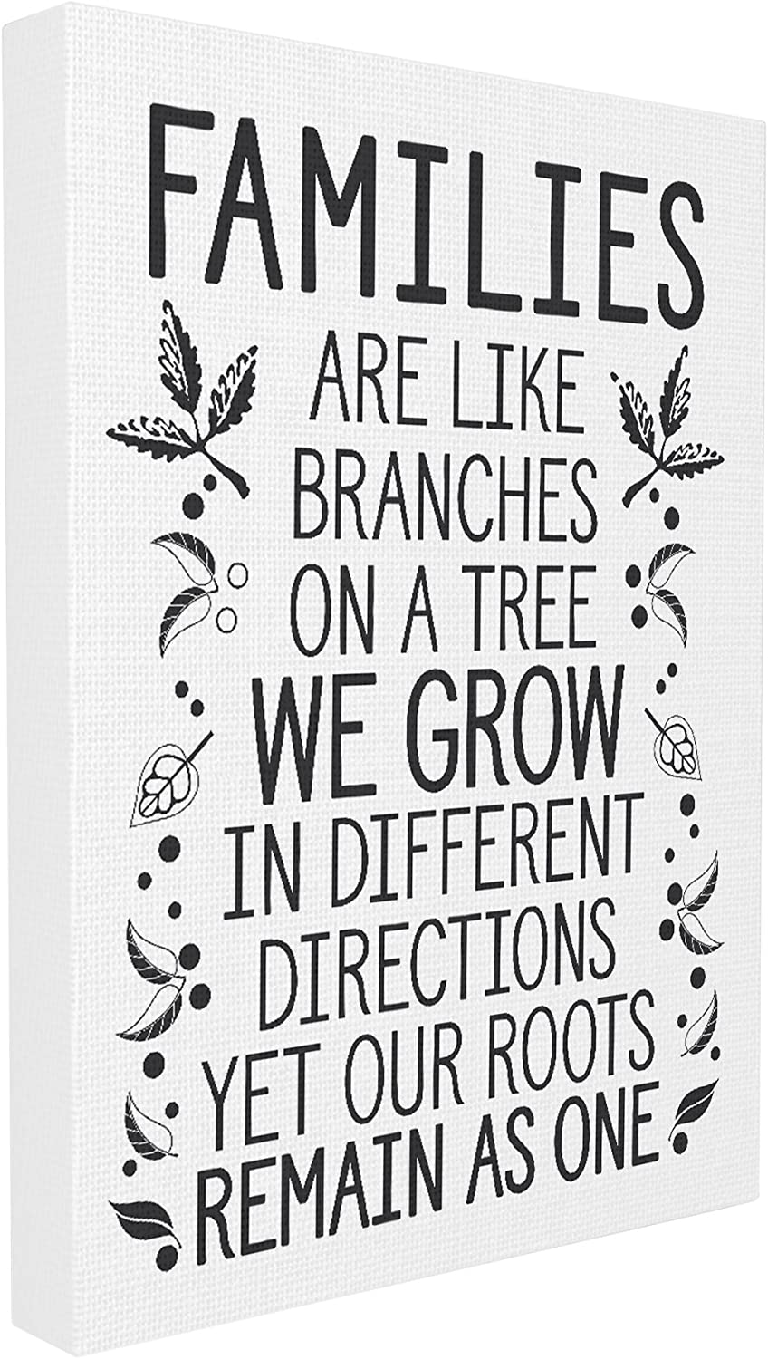 Stupell Industries Families Are Like Branches Stretched Canvas Wall Art, Proudly Made in USA