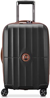 DELSEY Paris St. Tropez Hardside Expandable Luggage with Spinner Wheels, Black, Checked-Large 28 Inch
