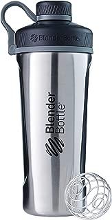 BlenderBottle Radian Insulated Stainless Steel Shaker Bottle, Natural/Black, 26-Ounce