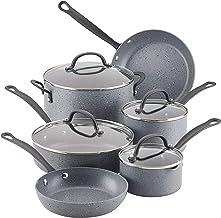 Farberware 10594 Quartz Nonstick Cookware Pots and Pans Set, 10 Piece, Gray Speckle