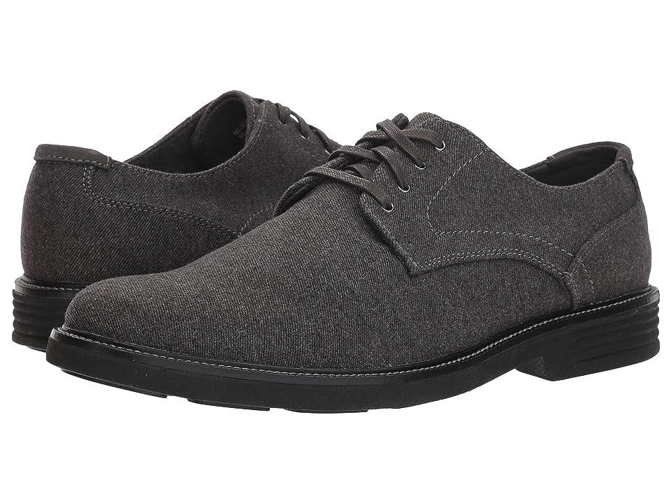 Dockers Parkway 360 Plain Toe Oxford (Dark Grey 360 Stretch Felt) Men