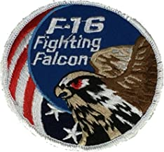 U.S. AIR FORCE F-16 FIGHTING FALCON ROUND PATCH - Color - Veteran Owned Business.