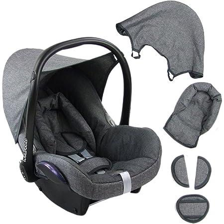 Bambiniwelt Ersatzbezug Für Maxi Cosi Cabriofix 6 Tlg Grau Grau Bezug Für Babyschale Komplett Set Xx Baby