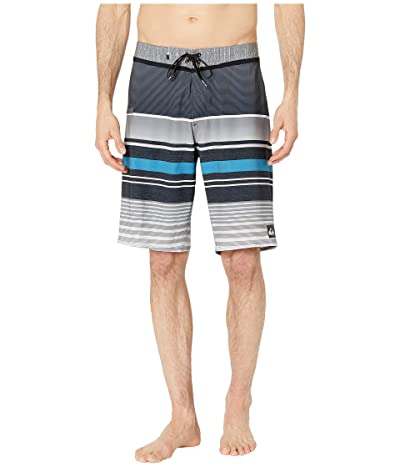 Quiksilver 21 Everyday Stripe Vee 2.0 Boardshorts Swim Trunks (Black) Men