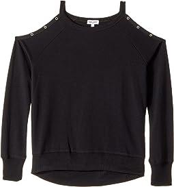 Splendid Littles - Grommet Cold Shoulder Sweatshirt (Big Kids)