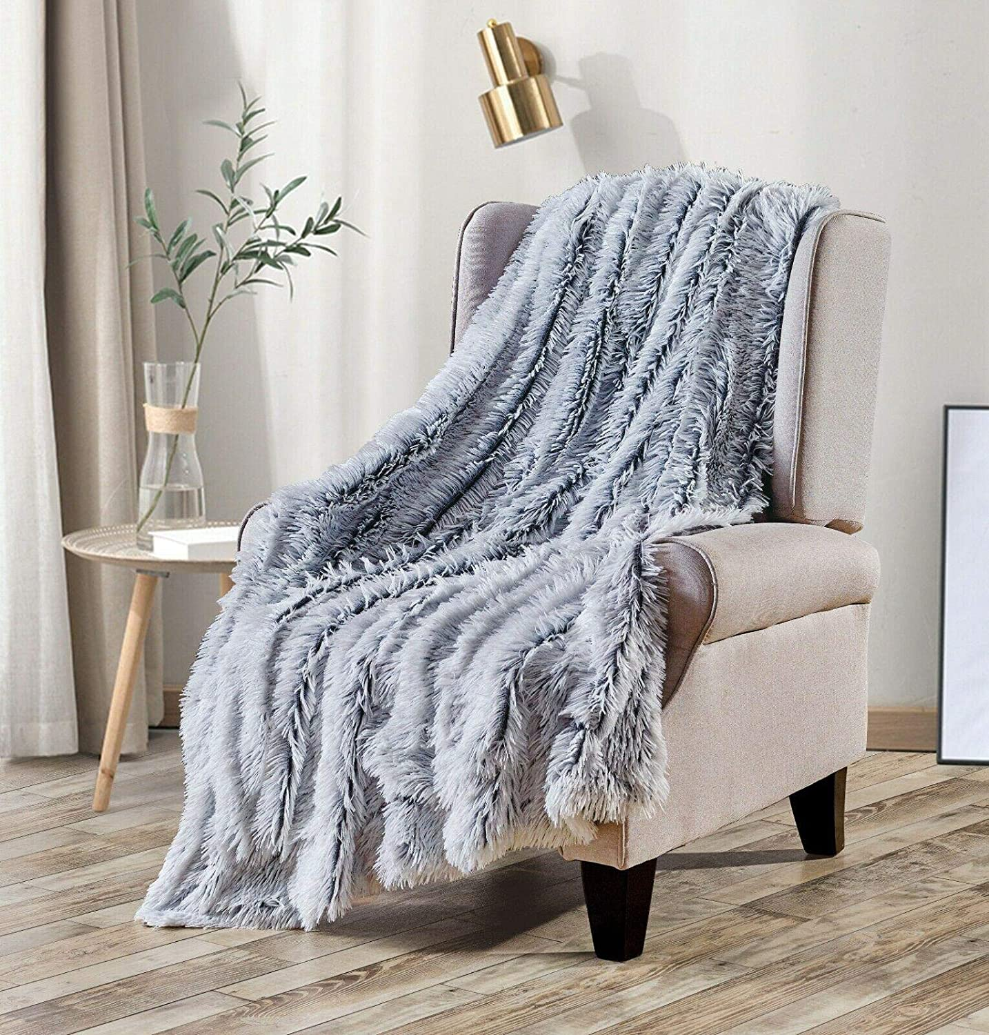 Long Shaggy Faux Fur Throw New mail order Furry Blanket Fluffy Plush Reservation Re