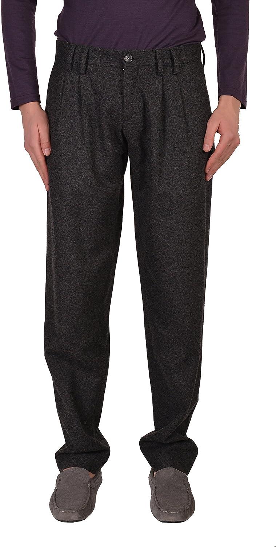 Dolce & Gabbana D&G Men's Gray 100% Wool Casual Pants Size US 32 IT 48
