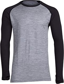 Ridge Merino Men's Aspect Midweight Merino Wool Base Layer Long Sleeve Shirt