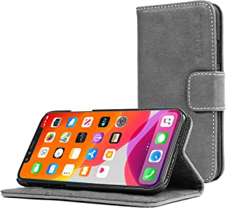 Snugg iPhone 11 Wallet Case – Leather Card Case Wallet with Handy Stand Feature – Legacy Series Flip Phone Case Cover in Slate Grey