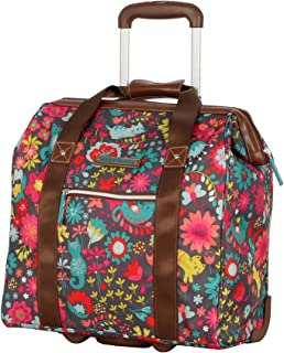 Design Pattern Carry on Bag Wheeled Cabin Tote (Playful Gray)