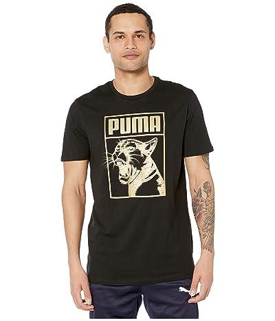PUMA Graphic Tee Box Logo (PUMA Black) Men
