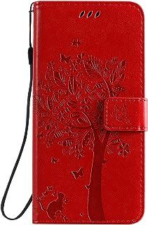 LODROC Lederen Portemonnee Case voor LG K50/LG Q60, [Kickstand Feature] Luxe PU Lederen Portemonnee Case Flip Folio Cover ...