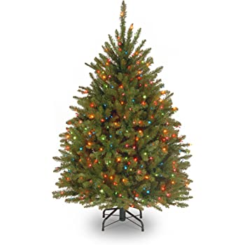 Amazon Com National Tree Company Pre Lit Artificial Christmas Tree Includes Pre Strung Multi Color Lights And Stand Dunhill Fir 4 5 Ft Home Kitchen