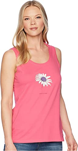 Beautiful Daisy Sleeveless Crusher Tee