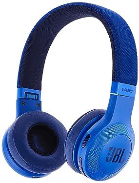 JBL E45BT On-Ear Wireless Headphones (Blue)