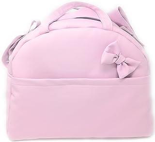 Amazon.es: bolso carrito polipiel rosa y gris