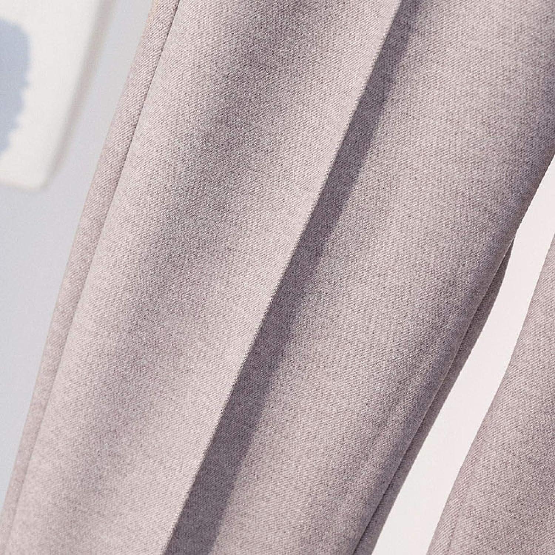 DAJUZI Pantalon Femme Automne Hiver Laine Sarouel élastique Taille Haute Grande TaillePantalon décontracté Streetwear Pantalon Noir Femmes vêtements Tarocolor