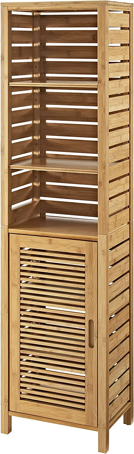 Linon Bracken Cheap super special price Three Shelf Bamboo Natural in Tower Brown It is very popular