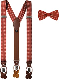 Jacob Alexander Matching Polka Dot Suspenders and Bow Tie