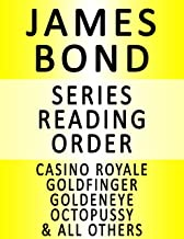 JAMES BOND — SERIES READING ORDER (SERIES LIST) — IN ORDER: CASINO ROYALE, DIAMONDS ARE FOREVER, GOLDFINGER, THE SPY WHO L...
