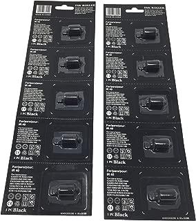 10 Black Compatible Sharp XE-A101 XEA101 Cash Register Ink Roller Ribbon Cartridge Replacement for XEA101 IR40 Printing Calculator Inker POS dot Matrix Impact Printer Cartridge