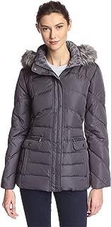 Women's Short Hooded Trim W/Flap Pocket