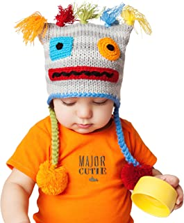 Baby and Toddler Boy, Girl Unisex Robot Beanie Hat, Pants Legwarmers