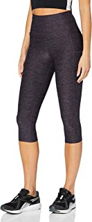 AURIQUE Amazon Brand Women's High Waisted Capri Running Leggings