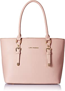 Lino Perros Women's Artificial Leather Hand bag Pink Coloured