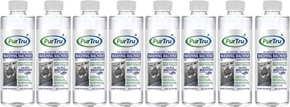 Washing Machine Cleaner (8 Pack) - All Natural and Safe Descaling & Cleaning Solution For Maytag, Whirlpool, Kenmore And All Top Load, Front Load, Portable, HE and Non-HE Washers