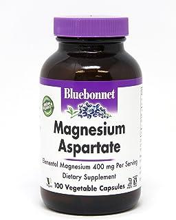 Bluebonnet Nutrition Magnesium Aspartate 400mg, 100 Vegetable Capsules