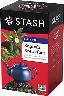 Stash Tea English Breakfast Black Tea, 20 Count Tea Bags in Foil (Pack of 6) Individual Black Tea Bags for Use in Teapots Mugs or Cups, Brew Hot Tea or Iced Tea