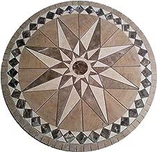 Tile Floor Medallion Marble Mosaic Travertine Star 36