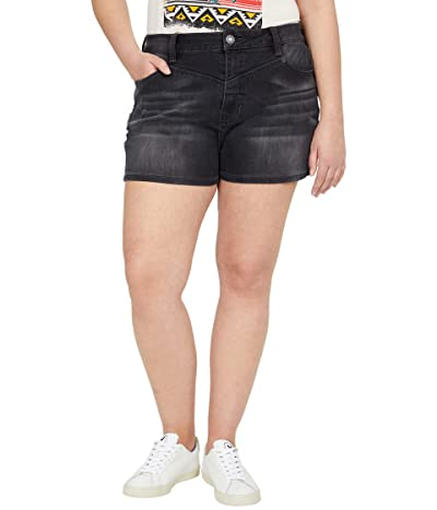 Rock and Roll Cowgirl High-Rise Denim Shorts in Steel Wash 68H8202 (Steel Wash) Women
