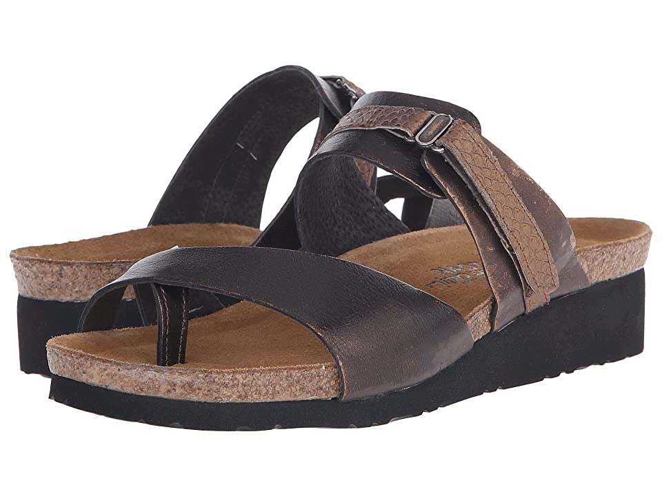 Naot Jessica (Burnt Copper Leather/Brown Lizard Leather) Women