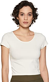 Amazon Brand - Symbol Women's Plain Slim Fit T-Shirt