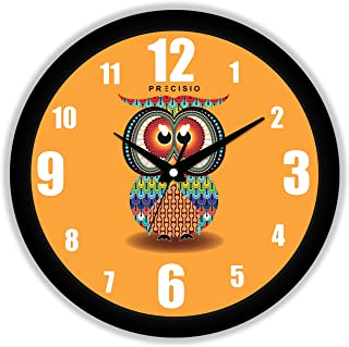 E Deals Printed Wall Clock 25X25 cm| Round Shaped Designer Wall Clock with Glass for Home/Living Room/Bedroom/Kitchen/Offi...