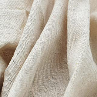 Light Beige Linen Needlework Embroidery Fabric Cross Stitching Plain Solid Color Aida Cloth Rose Flavor