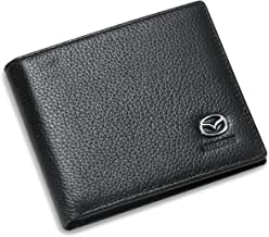 Mazda Bifold Wallet with 3 Credit Card Slots and ID Window - Genuine Leather