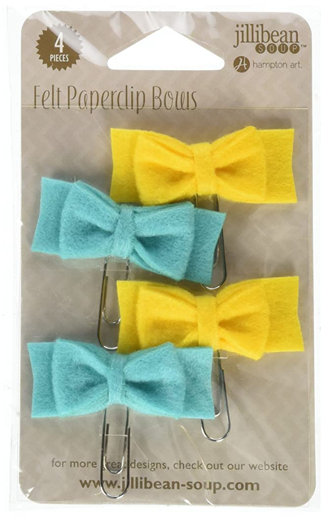 Hampton Art Mushroom Medley Mini Felt Bow Paper Clips (4 Pack)