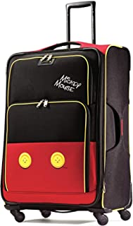American Tourister Disney Softside Luggage with Spinner Wheels, Mickey Mouse Pants, Checked-Large 28-Inch
