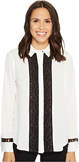 Ivanka Trump - Collared Button Down Blouse