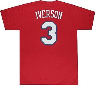 Philadelphia 76ers Sixers Allen Iverson Throwback T Shirt